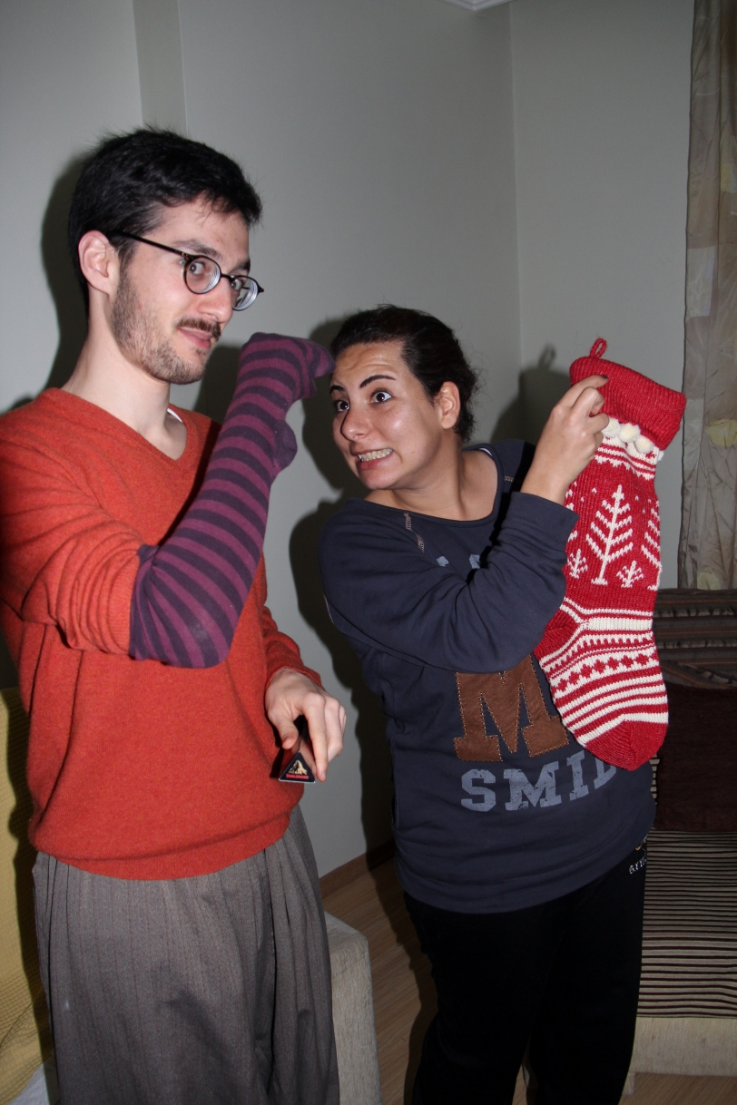 Eric & Eda with their stockings