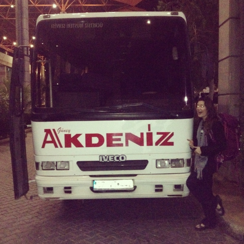 The bus that carried us twelve hours along the southern coast of Turkey.