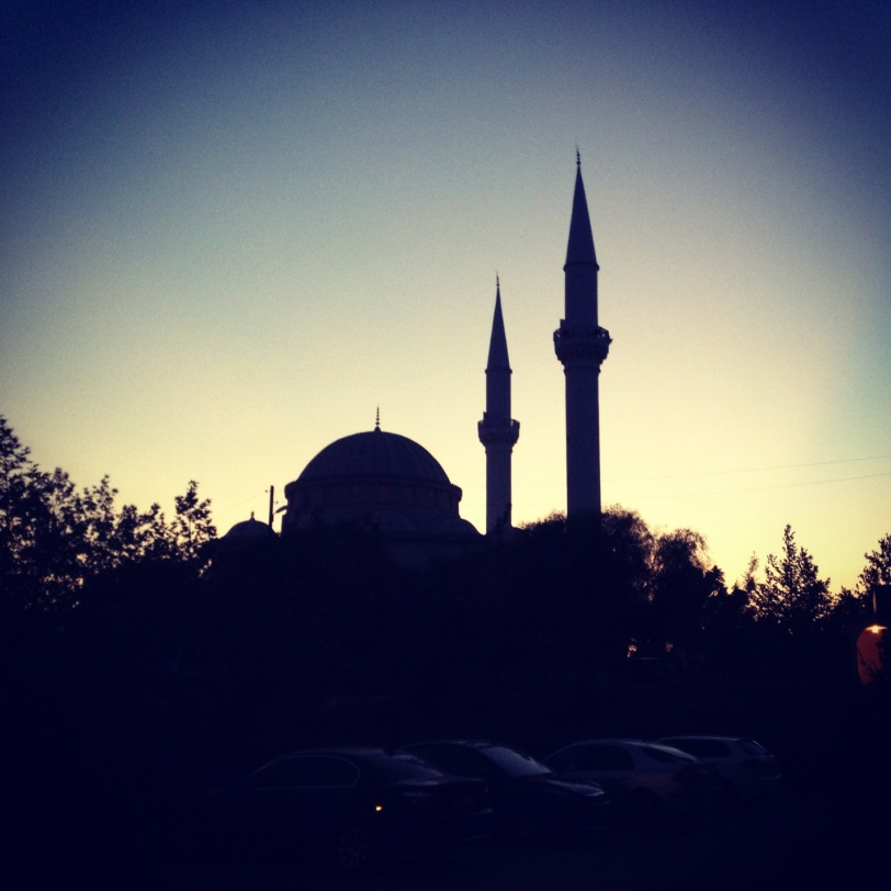 Mosque in the evening