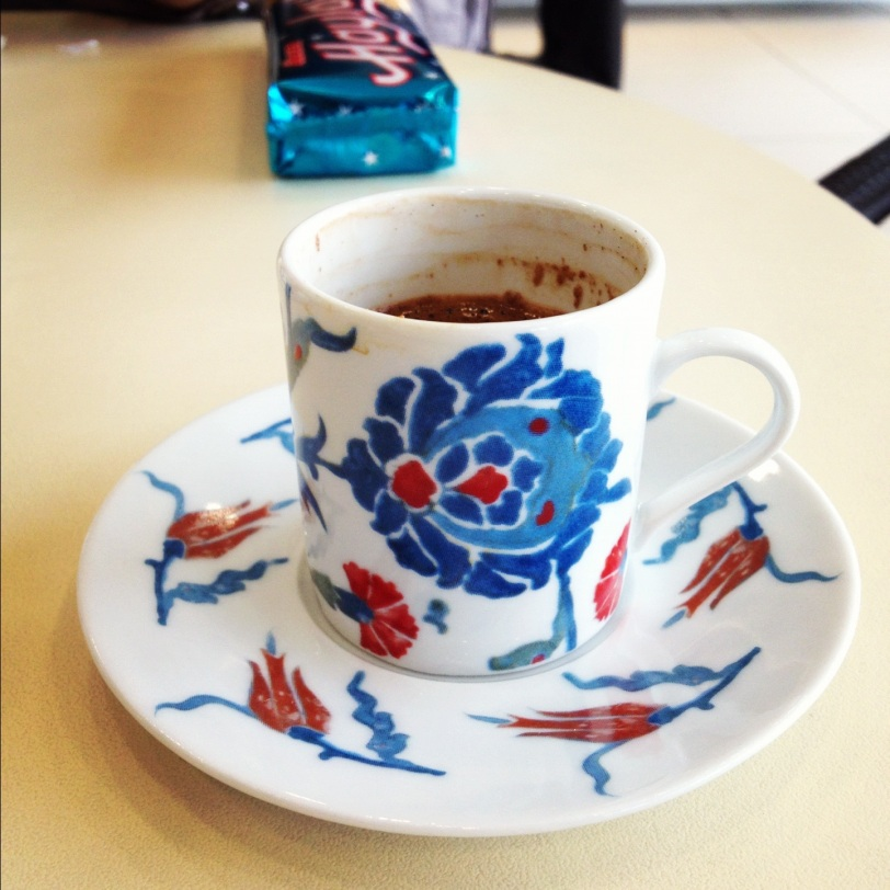 Turkish coffee at Zeugma Museum