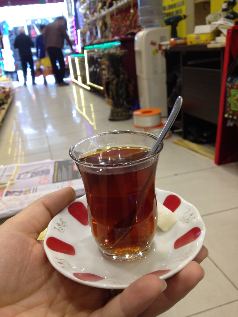 Tea at a shop in Istanbul