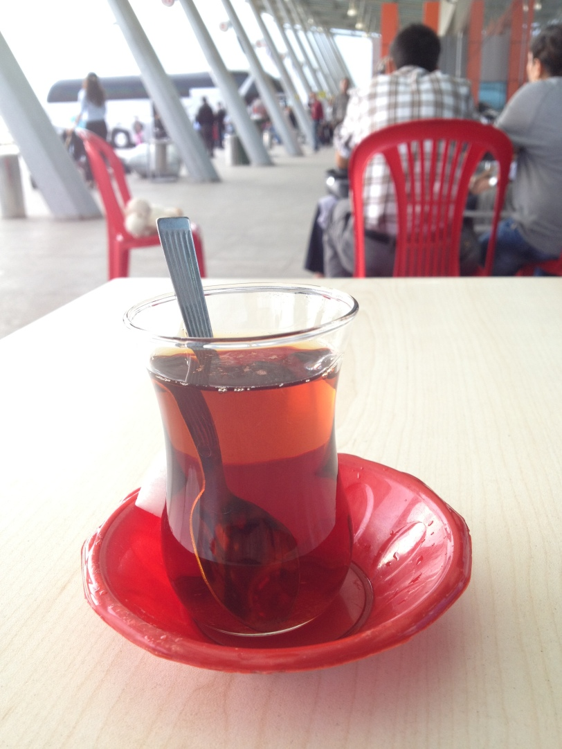 Tea at the Osmaniye bus station