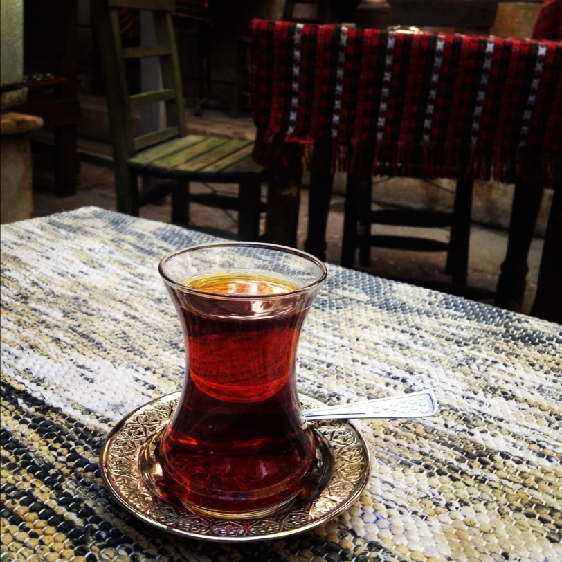 Taking tea in Gaziantep