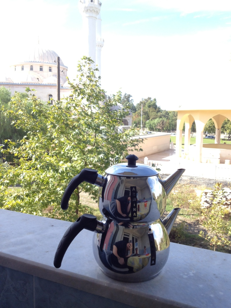 Double boiler Turkish tea pot