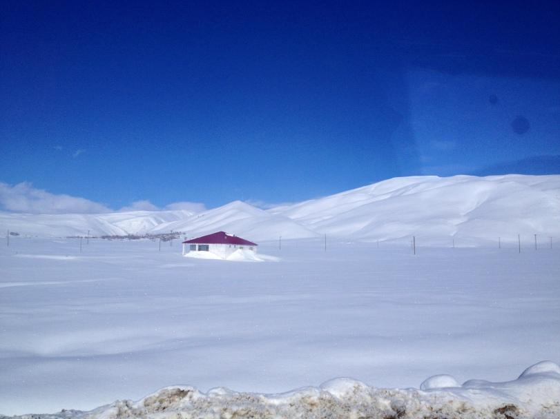 Snowing expanse in Bingöl Province