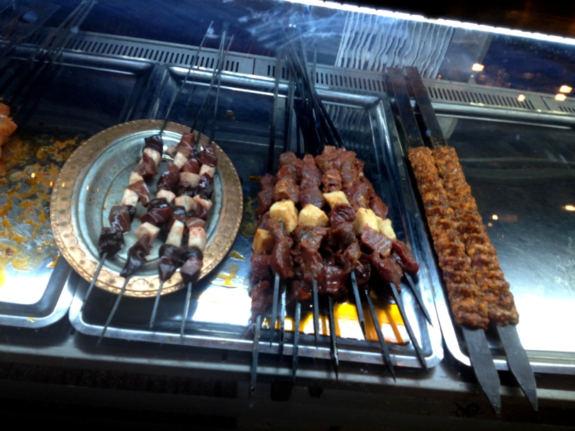 Skewers of meat