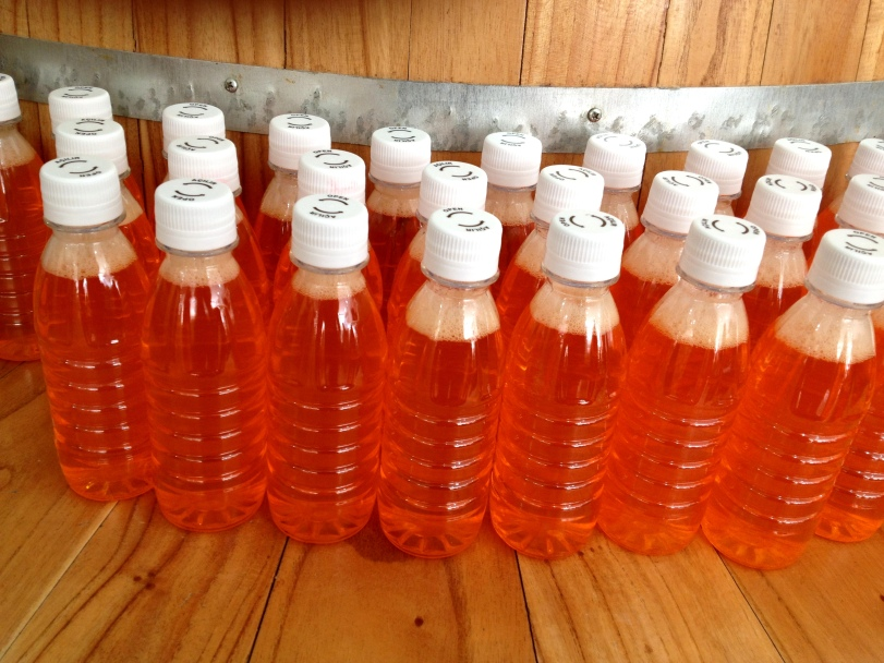 bottles of pepper spice