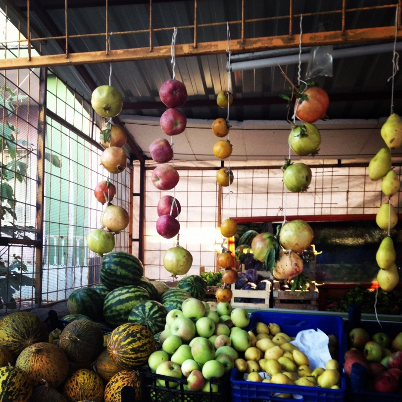 Hanging produce