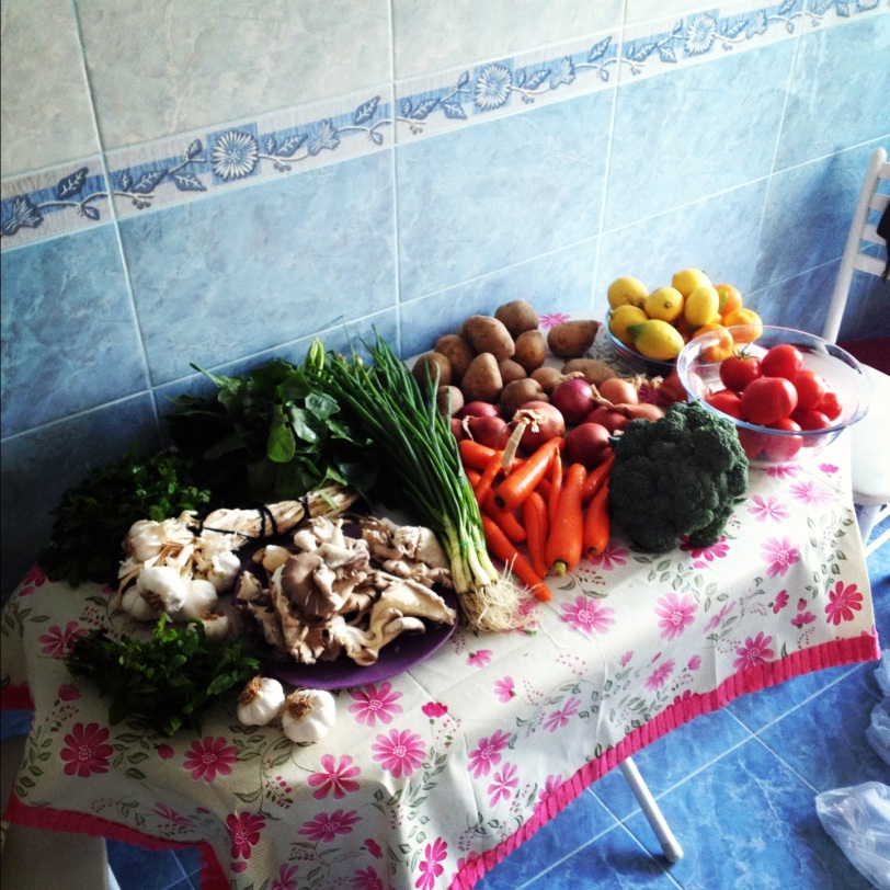 The haul from the weekly farmer's market