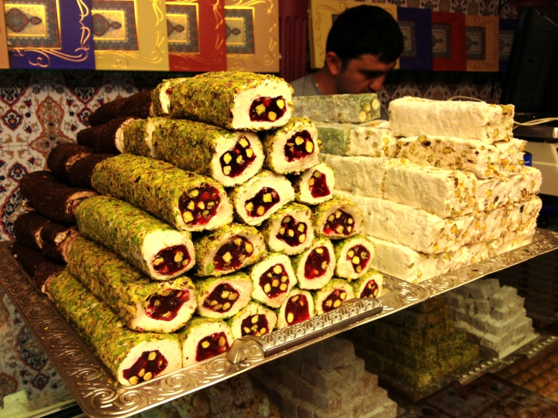 Layers of superb sweets in the Spice Bazaar
