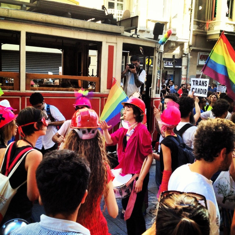 LGBT demonstration down Istiklal