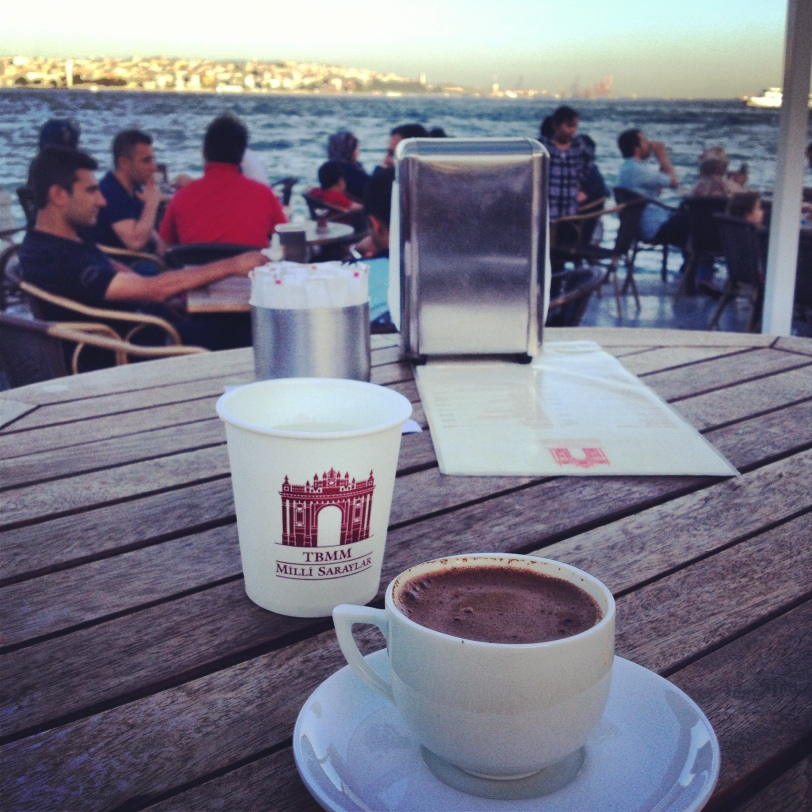 Turkish coffee on the Sea of Marmara