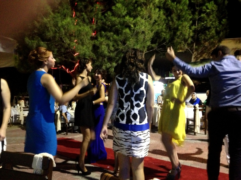 Guests dancing at henna night