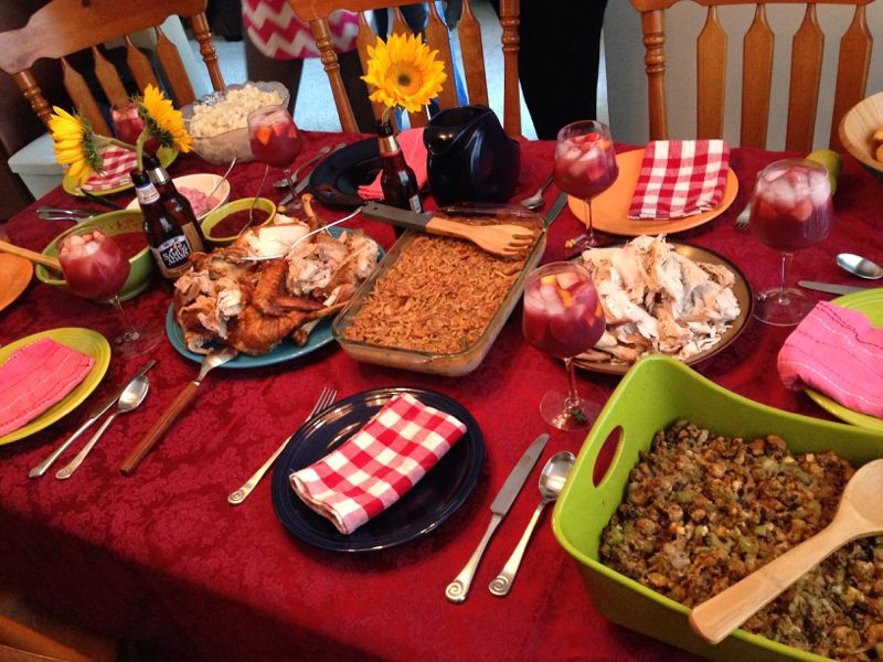 My family's holiday table in North Carolina, USA