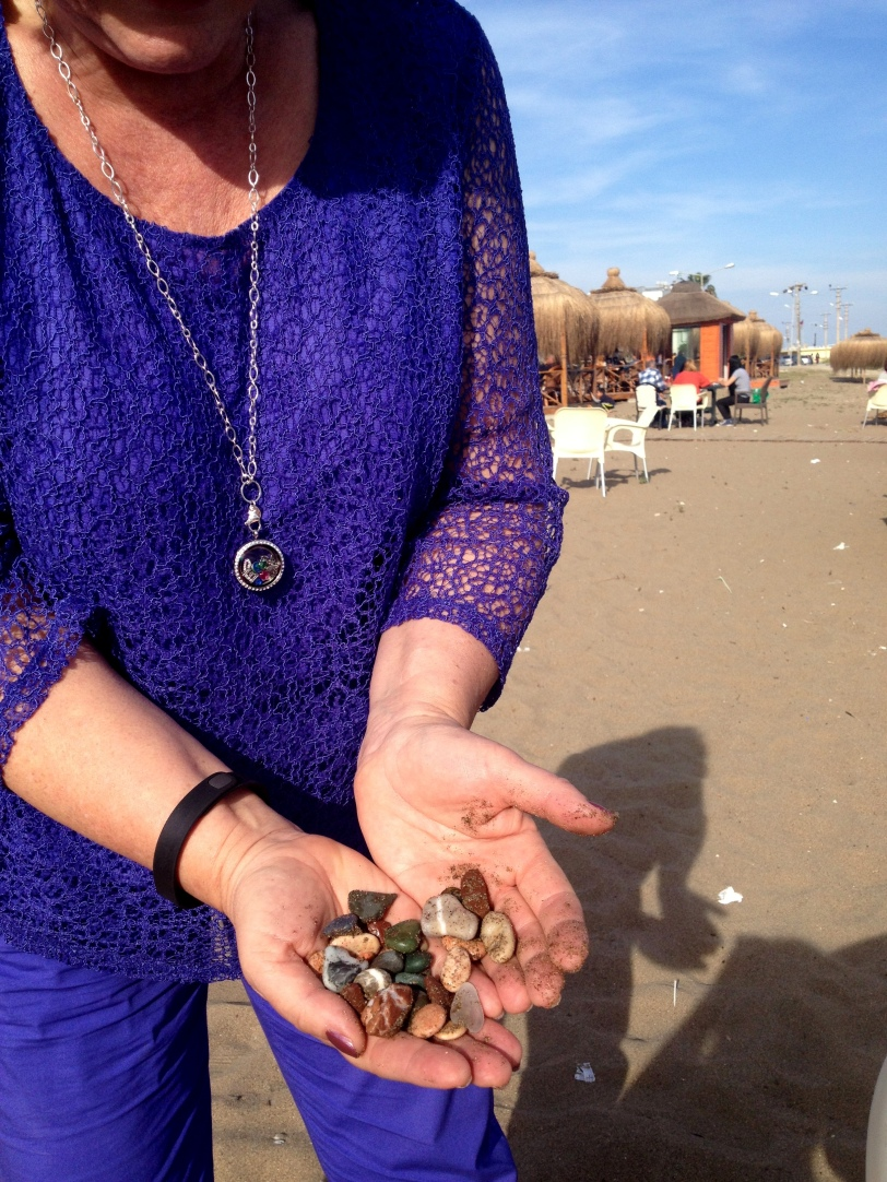 Mom's gathered seashells from a beach in Mersin