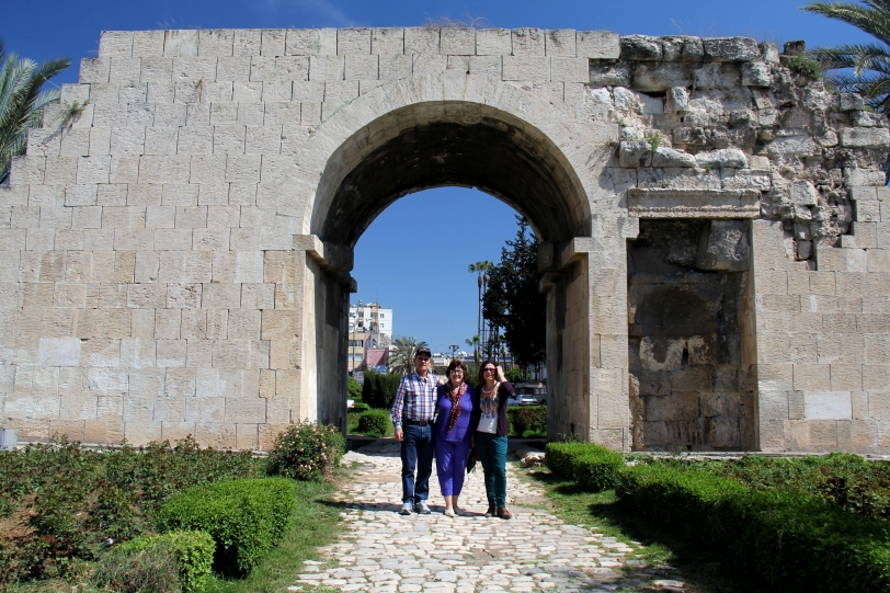 In front of Cleopatra's Gate