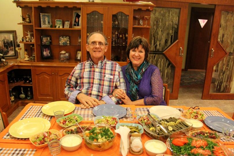 Sitting down to dinner in Mersin