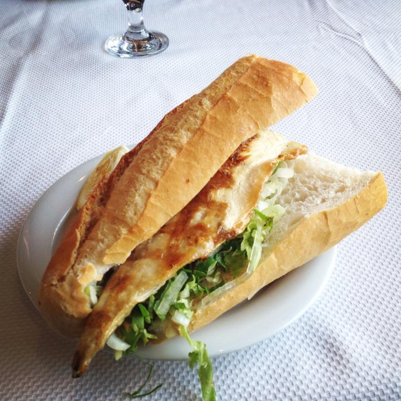 Balik ekmek, or fish sandwich