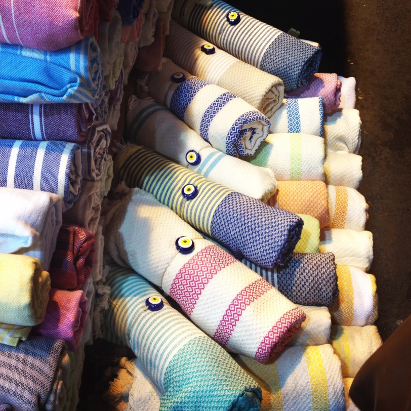 Don't forget to pick up some hamam towels in various colors