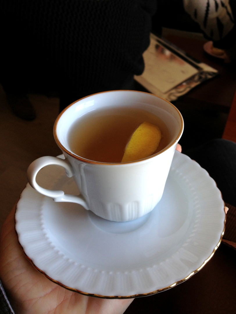 Special tea with lemon