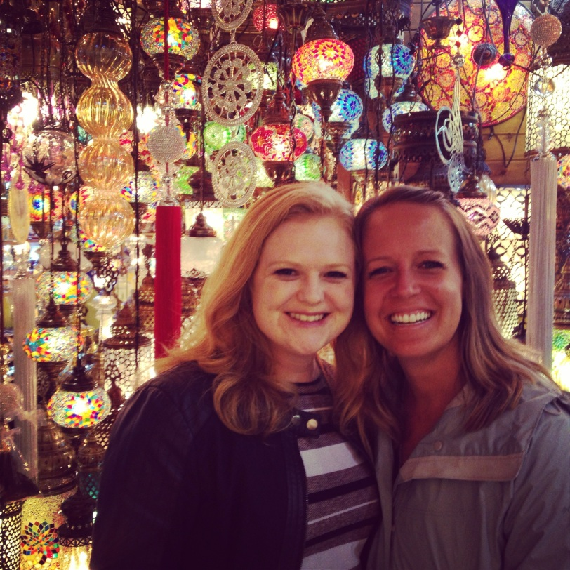 Katie and Angela in the Grand Bazaar