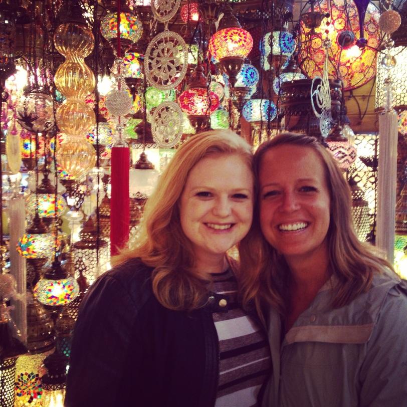 Katie and Angela in the Grand Bazaar
