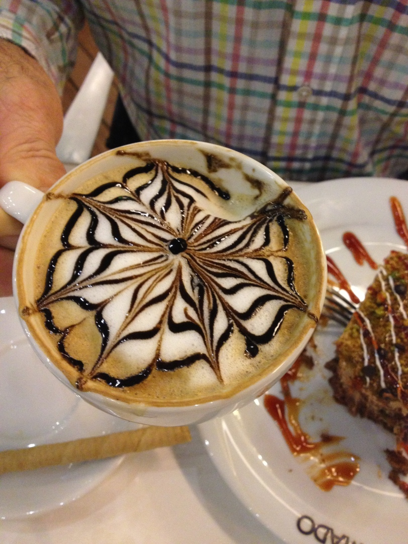 Dad was elated with this fancy cappuccino