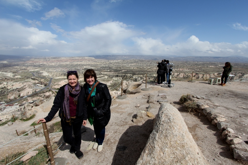 at the top of Uchisar Castle