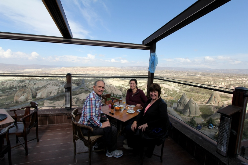 Enjoying the view in Uchisar