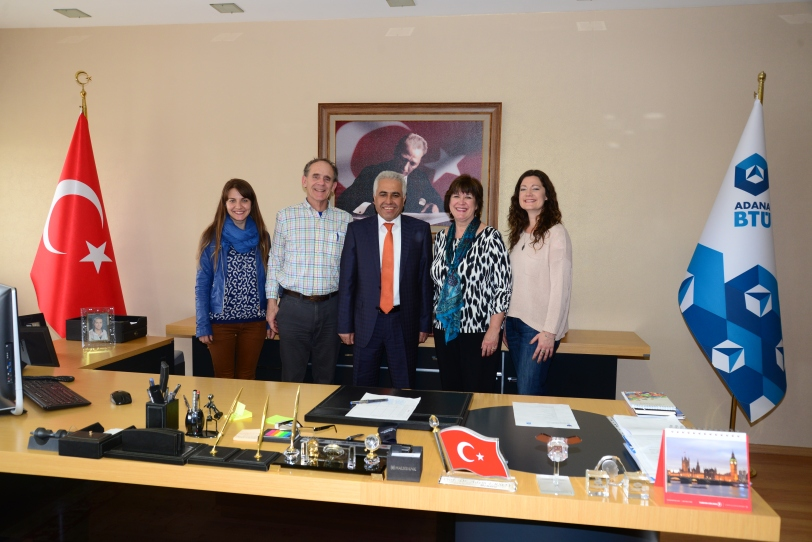 Meeting with Prof. Dr. Adem Ersoy in his office (photo courtesy of Adana BTÜ)