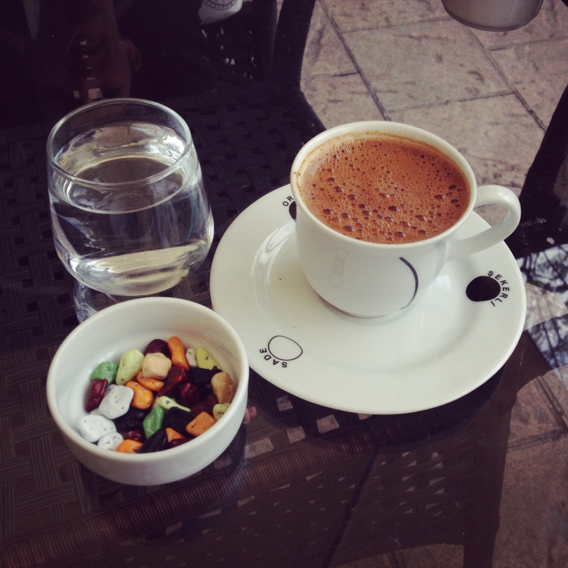 Turkish coffee and chocolate rocks