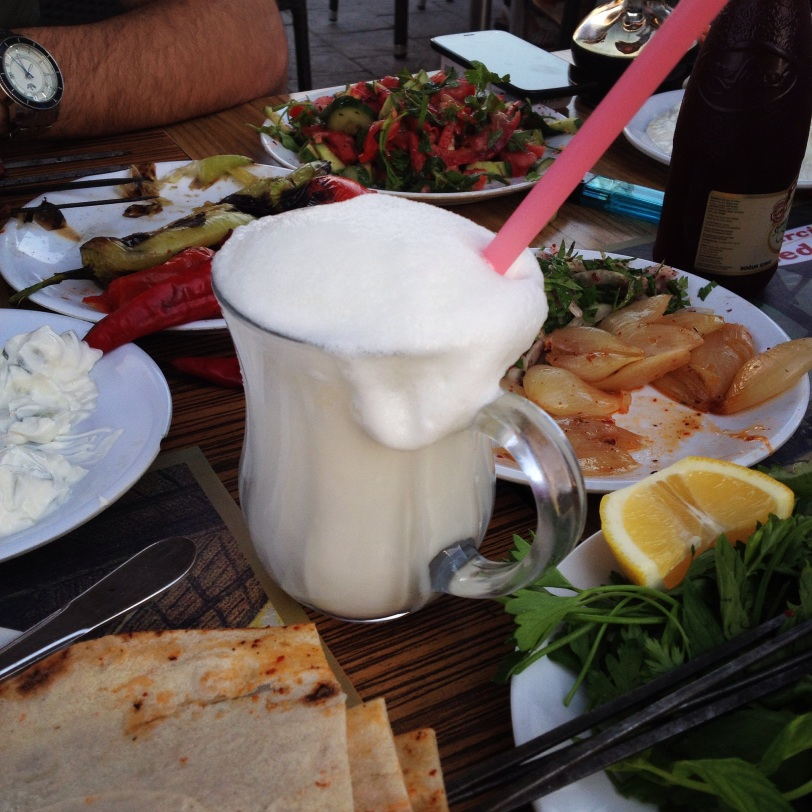 Really, I can hardly wait for a cool glass of frothy ayran!