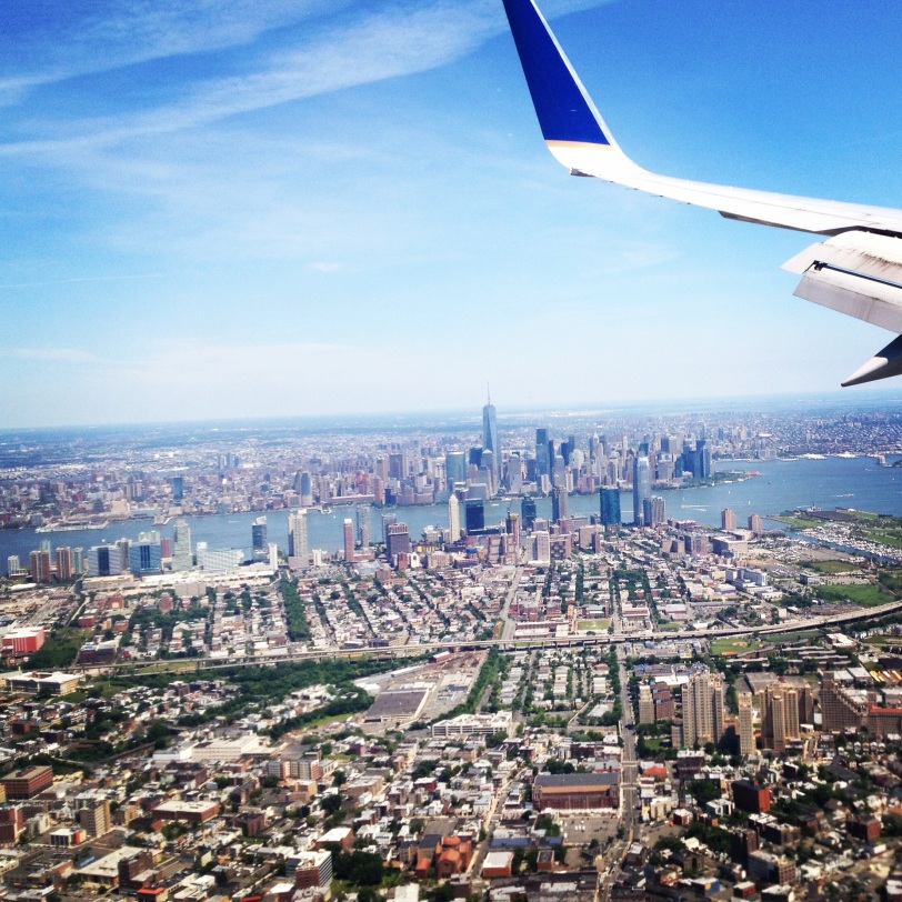 Flying into New York City in June