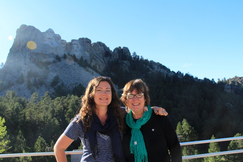 Mom and I at Mount Rushmore in South Dakota