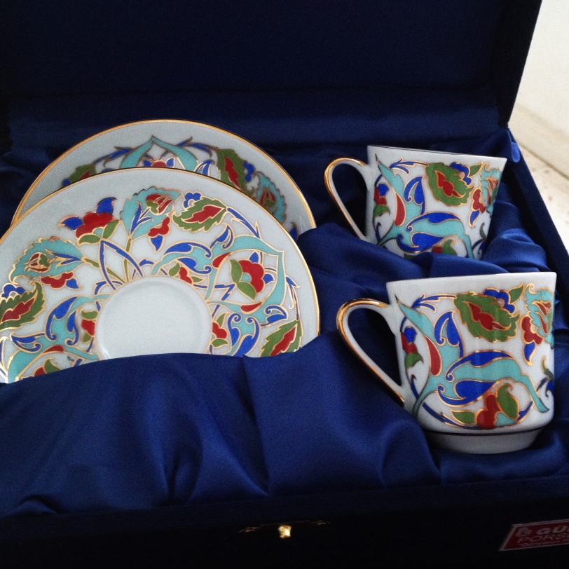 Lovely Turkish coffee cups like these might be for sale at the bazaar