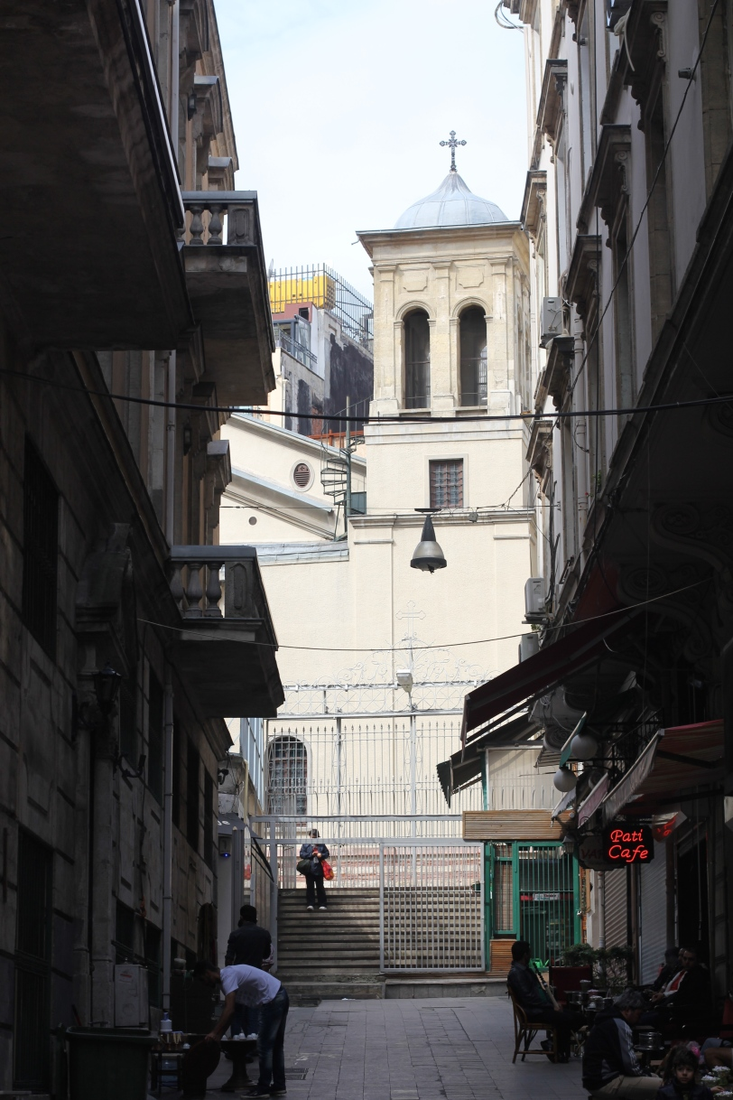 Churches are tucked away up and down Istiklal Street