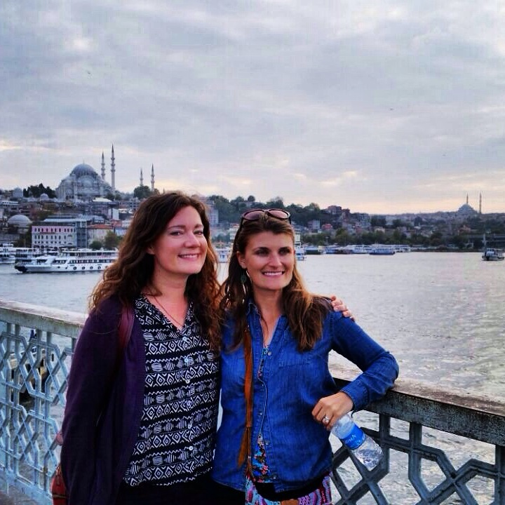 Fauna and I on Galata Bridge