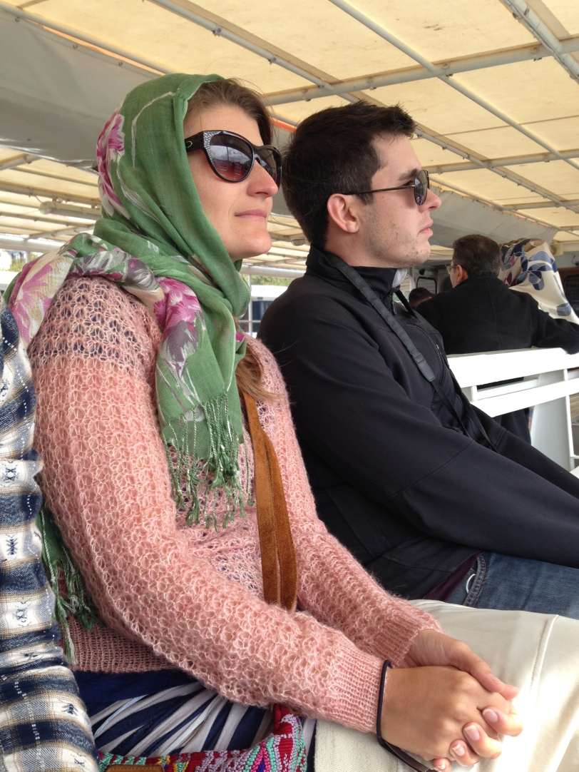 Fauna and Sean enjoying the view on the Bosphorus