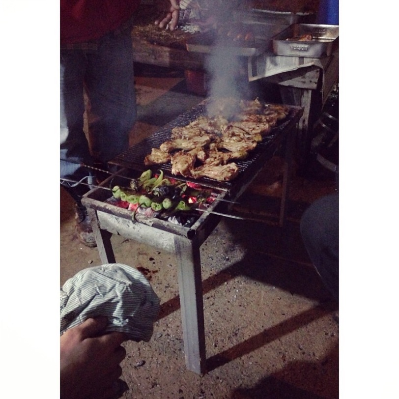 This is chicken on the grill, but this represents a fairly typical Turkish grill.