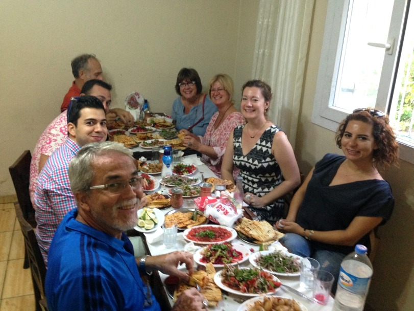 Feasting with my families at Yesil Kapi in downtown Adana.
